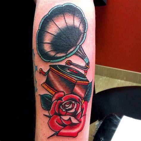 tattoo prices long island arm new school flower gramophone tattoo by da vinci tattoo