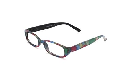 hazel blue frame with multi coloured arms reading