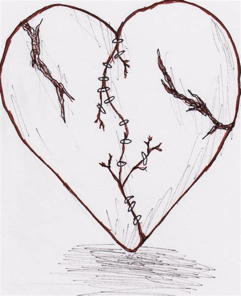 broken heart tattoo by weirdanime on deviantart