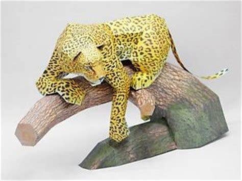 Origami Leopard - leopard paper self assembly 3d paper puzzle origami