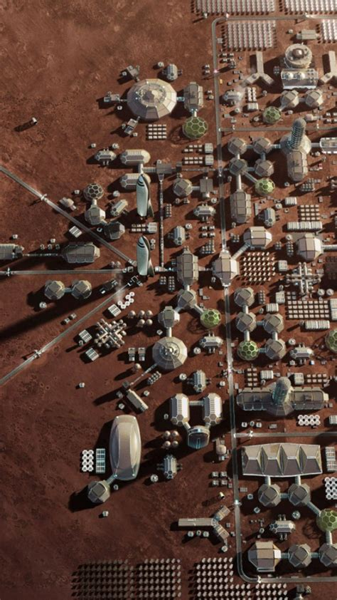 elon musk wallpaper iphone wallpaper mars base mars colony space x hd space 16423