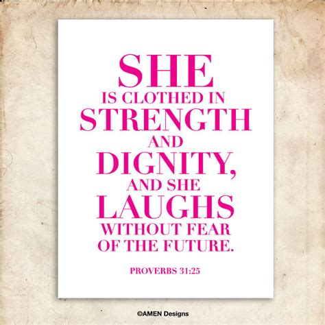 she is clothed in strength and dignity proverbs 31 25 pink