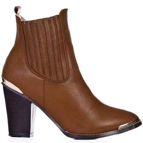 buy lexus block heel chelsea ankle boots leather style