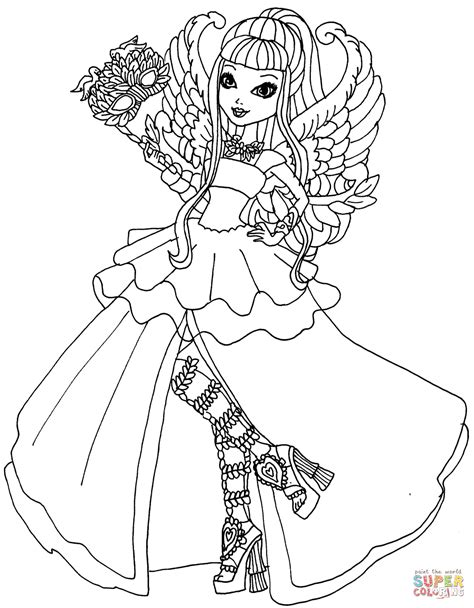 coloring pages ever after high raven queen coloriage ever after high c a cupid thronecoming