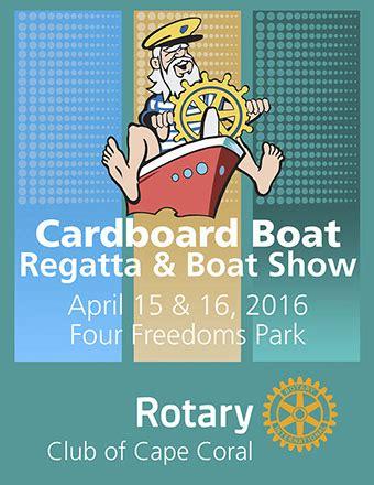 cardboard boat regatta names volunteer