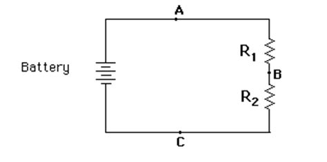 two resistors are wired in series the simplest circuit