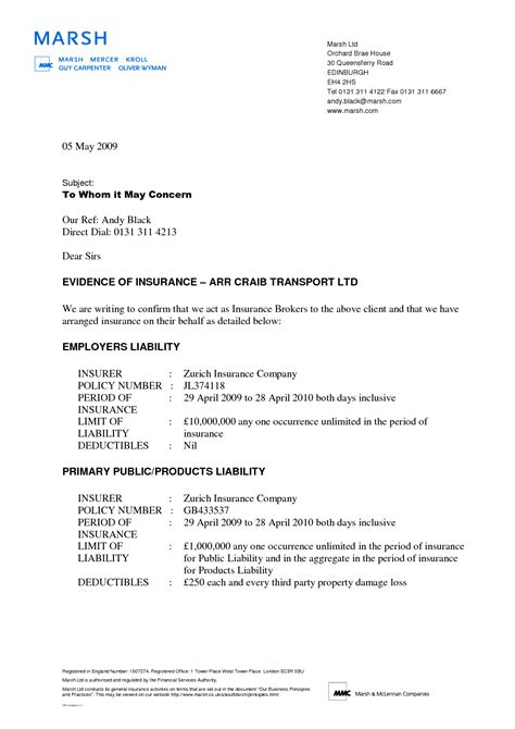Official Letter Format cover letter to whom it may concern sle