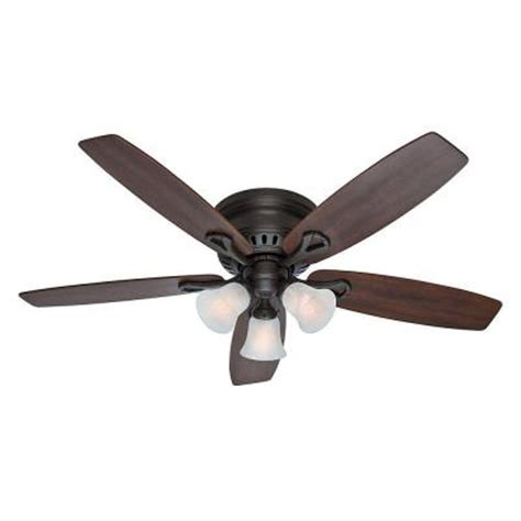 hunter oakhurst white ceiling fan hunter oakhurst 52 in indoor new bronze ceiling fan with