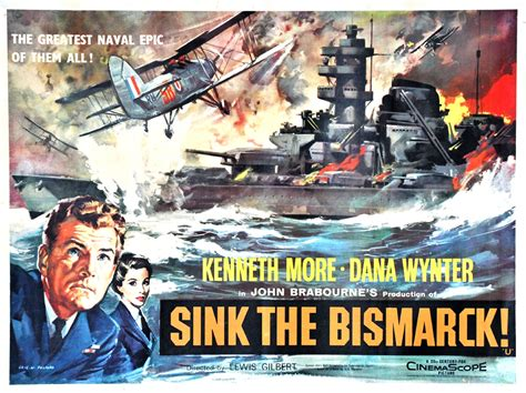 Sink The Bismarck Buy by Quot Sink The Bismarck Quot Lobby Card 1960 L To R Kenneth