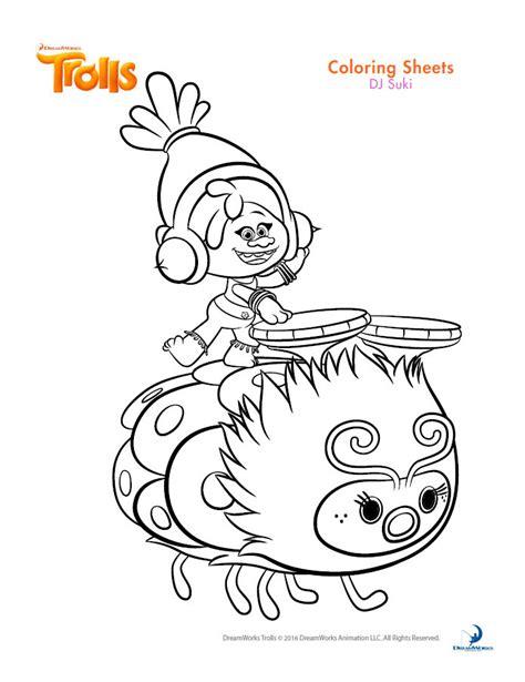 Trolls Dreamworks Coloring Sheet Coloring Pages Dreamworks Coloring Pages