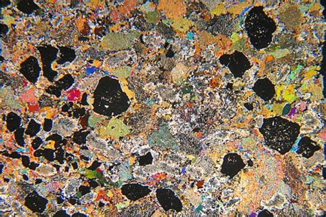 Eclogite Thin Section by Sapphirine Retrograde Eclogite Sweden Thin Section