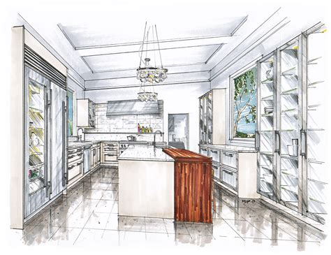 Kitchen Design Sketch New Project In Bermuda Mick Ricereto Interior Product Design