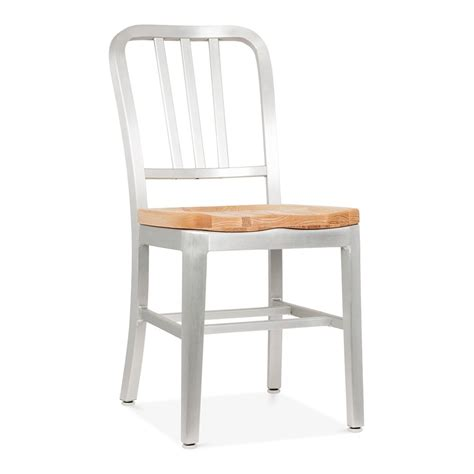 silver metal restaurant chairs metal navy chair 1006 silver anodized wood seat