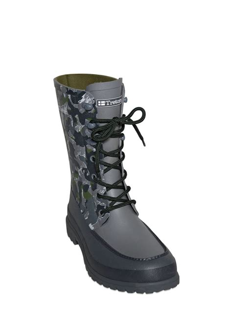 mens white rubber boots white mountaineering camouflage printed rubber boots