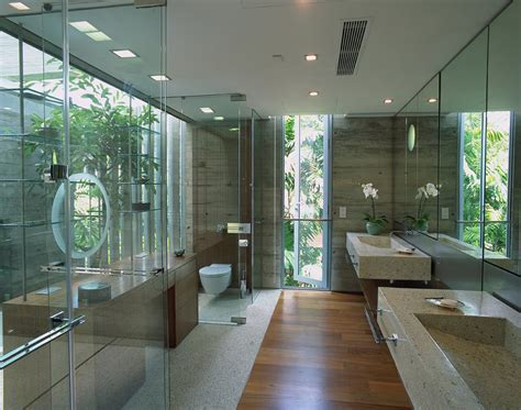 glass bathrooms bathroom glass stone sunset vale house singapore by wow architects