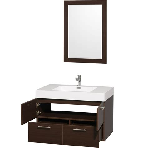 Mounted Vanity by Amare 36 Quot Wall Mounted Bathroom Vanity Set With Integrated