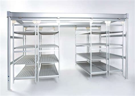 Overhead Storage Shelf by Italmodular Commercial Metal Shelves Solutions Italmodular