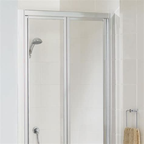 Lakes Shower Doors Lakes Bathrooms Classic Silver Framed 800mm Bi Fold Shower Door