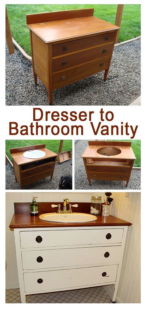 diy bathroom vanity from dresser how to make a dresser into a vanity home decor