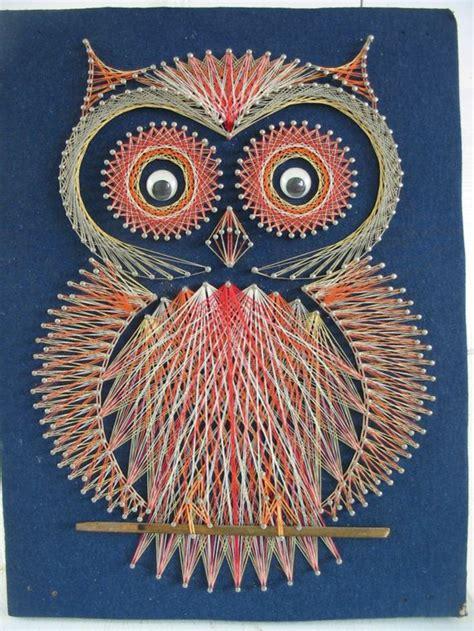 Owl String Template - 29 wandideen f 252 r die kreative wandgestaltung