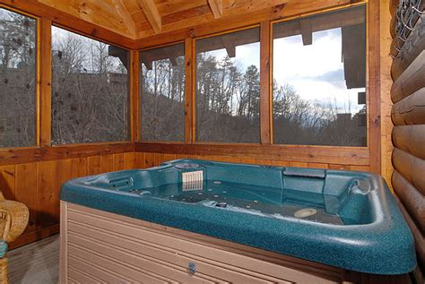 Log Cabin With Indoor Tub magic 1 bedroom log cabin in pigeon forge tennessee with tub indoor whirlpool and