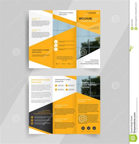 layout design for brochure business tri fold brochure layout design emplate stock
