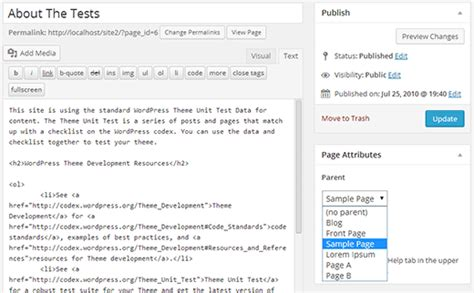 wordpress tutorial list how to display a list of child pages for a parent page in