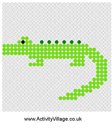 alligator bead pattern crocodile fuse bead pattern