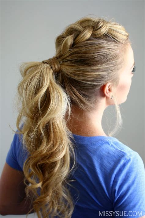 Wedding Hairstyles Side Pony With Braid by Best 25 Braid Ponytail Ideas On Braided