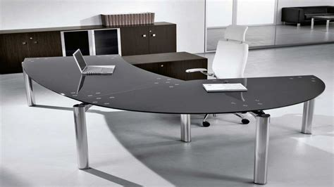 office furniture desk glass executive office desk