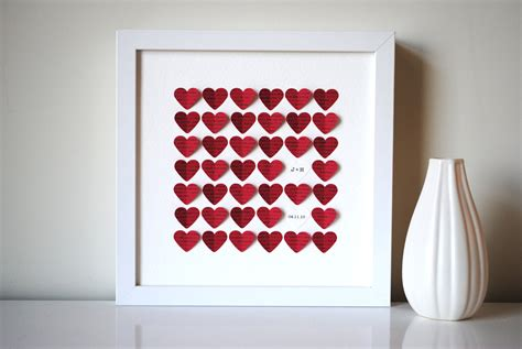 Unique Handmade Wedding Gifts - personalized wedding gift 3d song hearts made from