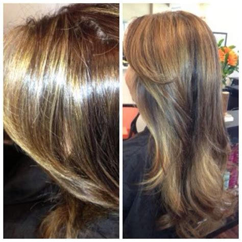 getting lowlioghts and highlights together butterscotch highlights and rich chocolate lowlights