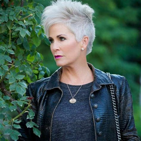gray short hairstyles  haircuts  women