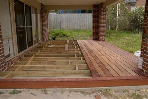 replace wood deck with concrete patio building a floating deck concrete slab decks