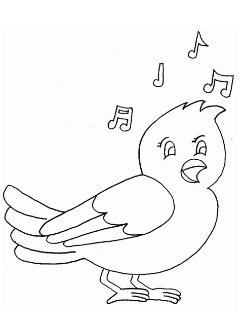 coloring pages of birds singing printable bird song animals coloring pages