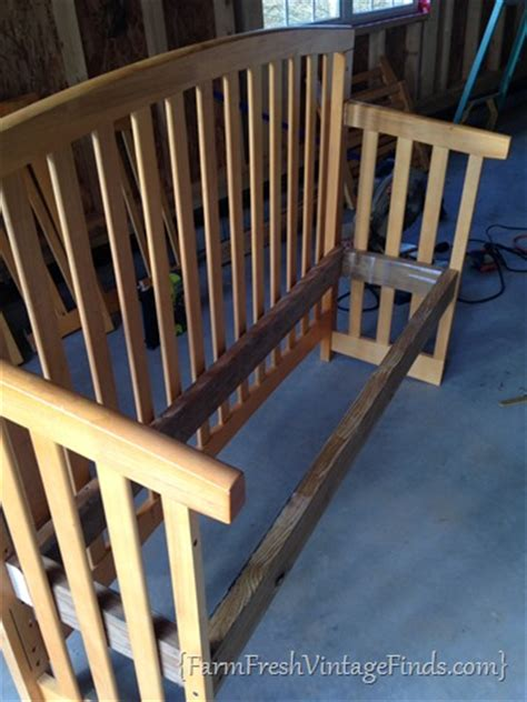 Convert Drop Side Crib To Toddler Bed by Transforming A Crib Into A Bench Farm Fresh Vintage Finds