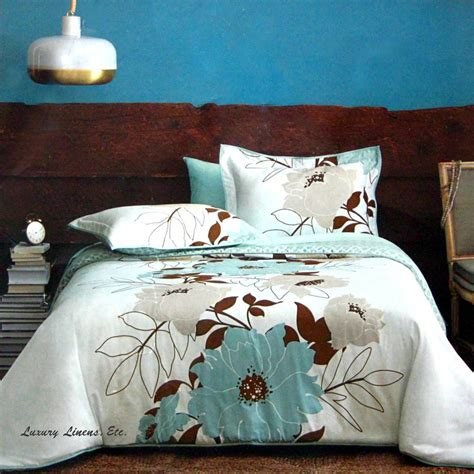 teal comforter sets full dwell studio flora teal blue brown gray comforter set full