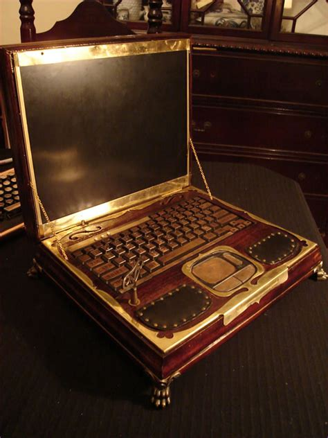 datamancer s victorian steampunk laptop available now