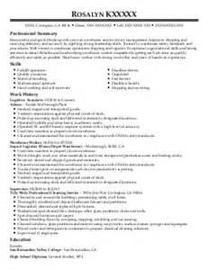 Material Handler Resume Examples Material Handler Resume Searching For Material Handler