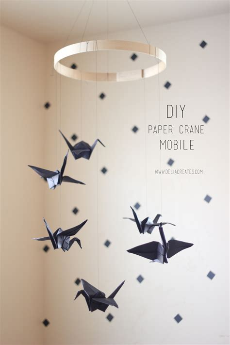 How To Make A Paper Mobile - paper crane mobile