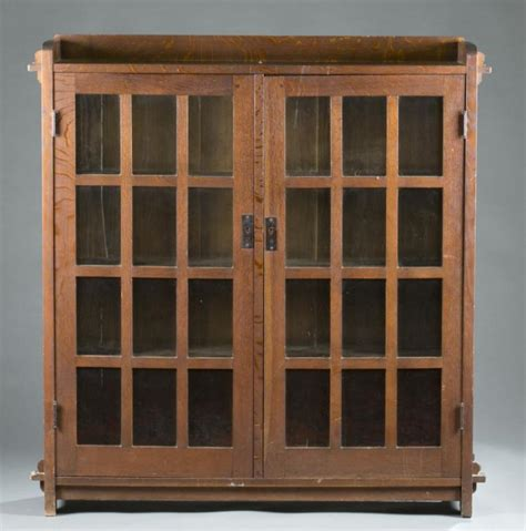 l jg stickley door bookcase