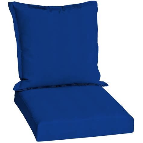 Blue Patio Chair Cushions Shop Pacific Blue Standard Patio Chair Cushion At Lowes
