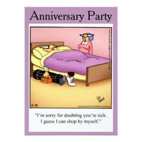 Wedding Anniversary Humour by Humorous Anniversary Invitations Announcements Zazzle