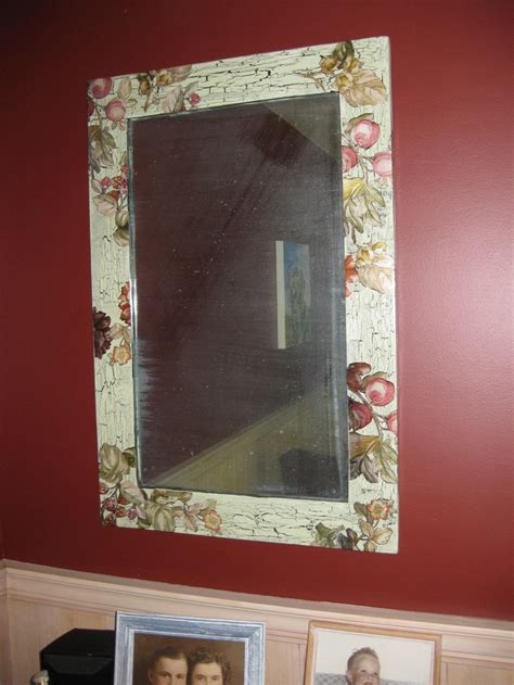 Decoupage Mirror - decoupage crafts decoupage and mirror