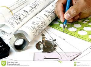 Pictures Of Plans Draftsman With Engineering Plans Royalty Free Stock Photo