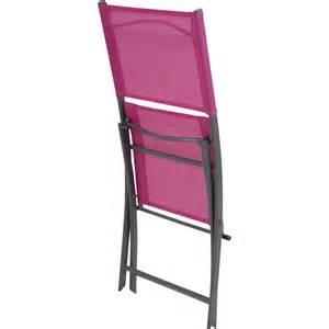 chaise de jardin en acier couleur fuschia leroy merlin