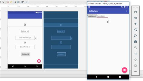android studio calculator layout android studio difference in the layout between preview