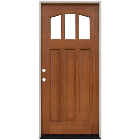 What Are Exterior Doors Made Of Single Door Wood Doors Front Doors Exterior Doors The Home Depot