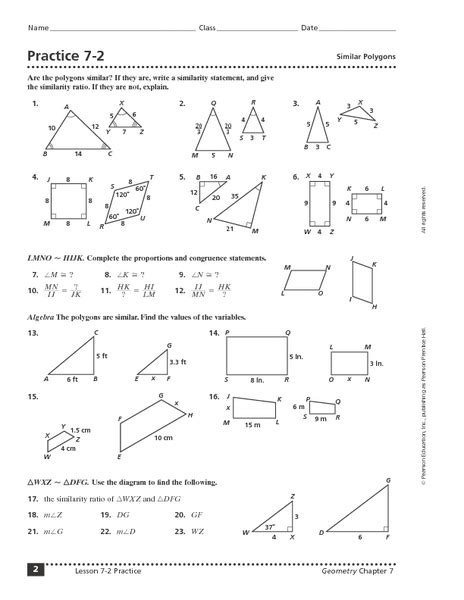 Similar Figures Worksheet 7th Grade by Similar Shapes Proportions Worksheet Abitlikethis