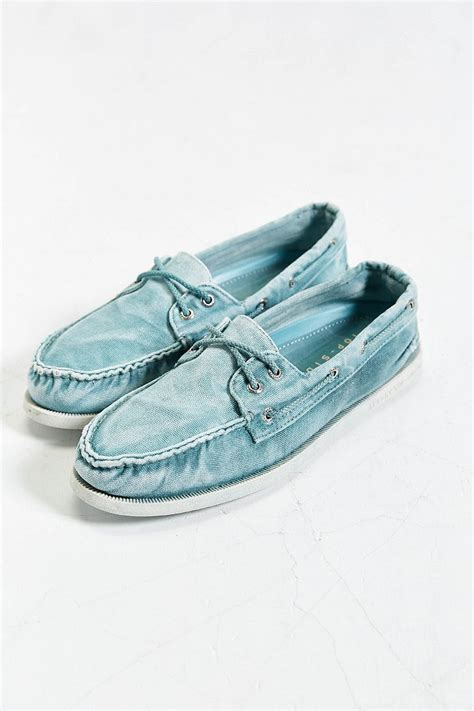 sperry top sider authentic original 2 eye washed canvas